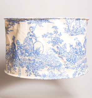 Blue Amp White French Style Toile Lampshade